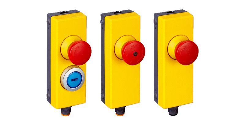 bouton poussoir arrêt d'urgence de sécurité